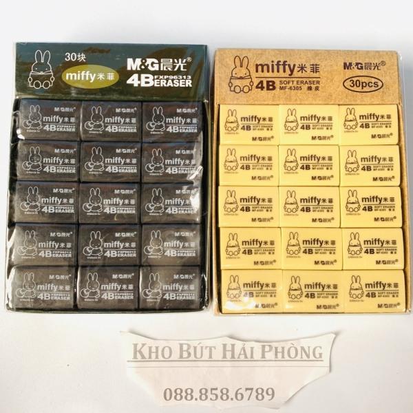 Tẩy M&G Miffy gôm tẩy sạch và mềm. tẩy sịn vỉ 30 cái