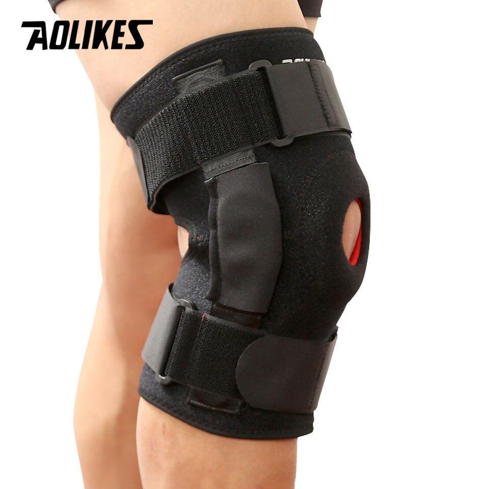 Đai Bảo Vệ Hỗ Trợ Khớp Đầu Gối Có Thanh Nhôm Trợ Lực Cao Cấp Sport Knee Protector AOLIKES YE-7907 Nhật Bản
