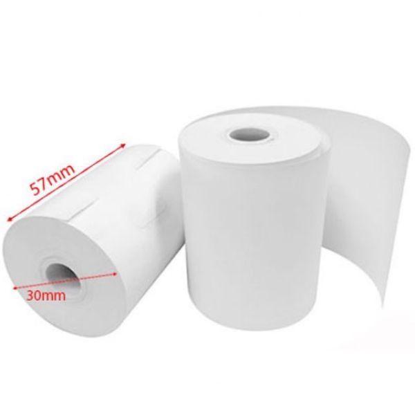 100 cuộn Giấy in hóa đơn máy thổi nồng độ cồn, giấy in nhiệt k57x30 chất lượng tốt