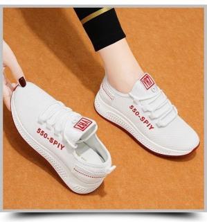 [ FreeShip - Qùa Tặng ] Giày Thể Thao Nữ , Giày Sneaker 247 Siêu Nhẹ Đế Cao Màu Trắng , Thời Trang Hàn Quốc 2021 TẶNG Tất Khử Mùi Cao Cấp thumbnail