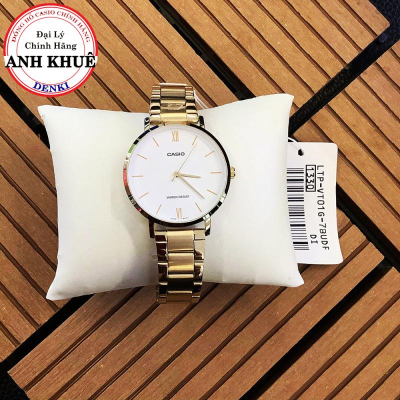 Đồng hồ nữ dây kim loại Casio Standard Anh Khuê LTP-VT01G-7BUDF sang trọng