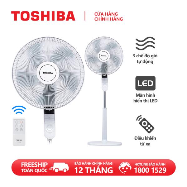 Quạt đứng Toshiba F-LSA20(H)VN 60W - Điều khiển từ xa - 5 cánh - Hẹn giờ tắt/mở - Màn LED hiển thị - Chế độ gió thông minh - Hàng chính hãng, bảo hành 12 tháng, chất lượng Nhật Bản