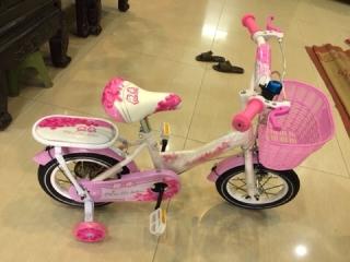 xe đạp trẻ em - xe đạp cho bé gái - dành cho bé 2-6 tuổi - mẫu mới khung vành bằng sắt siêu trắc chắn bánh 12 4