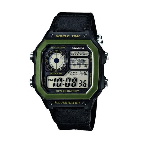 Đồng hồ nam dây dù AE-1200WHB-1BVDF