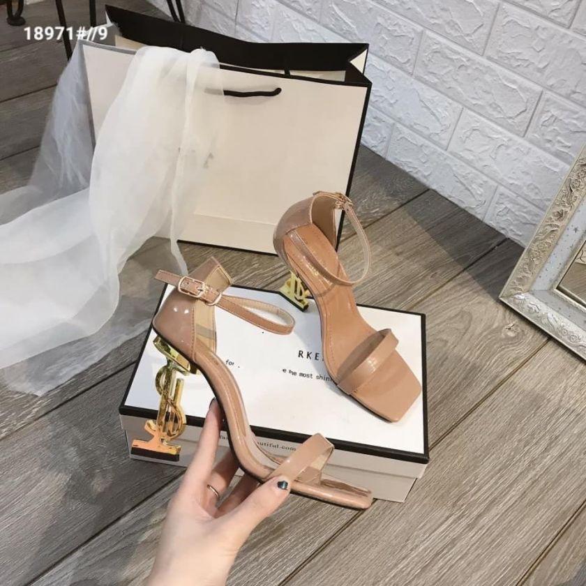 Sandal cao gót mẫu mới siêu xinh cao 9cm CAFE - c82 giá rẻ