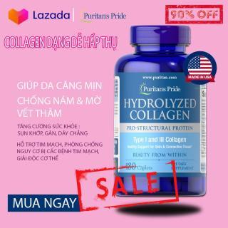 Viên uống căng mịn da chống nám (HSD 30 11 2022), Collagen thủy phân Puritan s Pride Hydrolyzed Collagen 1000mg 180 viên thumbnail