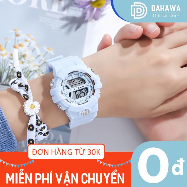 Nơi bán Đồng hồ điện tử nam nữ S159, kiểu dáng thể thao, dây nhựa siêu bền, hiển thị lịch vạn niên, phong cách Hàn Quốc, bảo hành 6 tháng