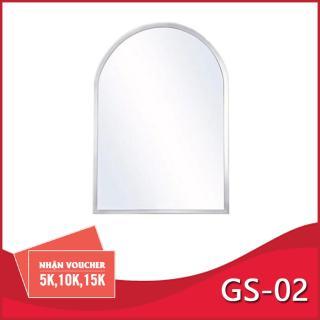 Gương phòng tắm cao cấp GS - 02 45x60cm Viền tròn ( kiếng cường lực 5mm ) dày bền chất lượng cao thumbnail