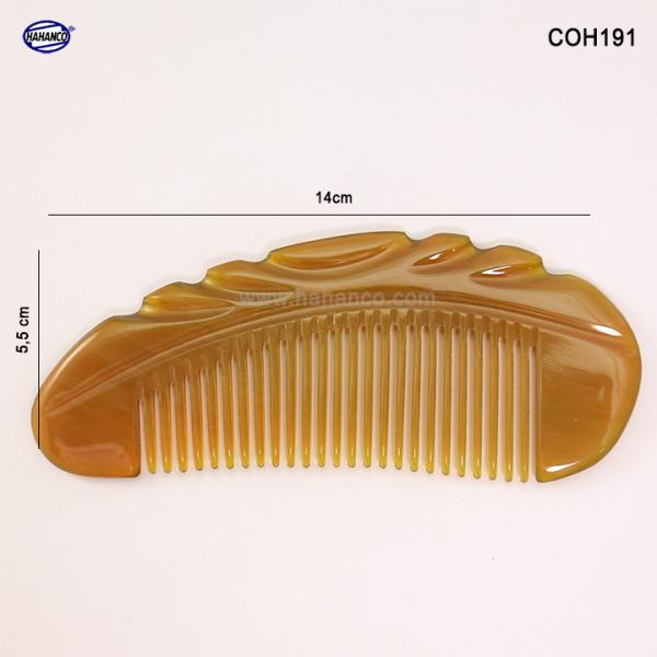 Lược sừng xuất Nhật (Size: S - 14cm) Lược múi bưởi khía đẹp có thể bỏ túi [COH191] Horn Comb of HAHANCO - Chăm sóc tóc
