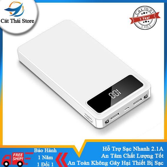 Cát Thái Pin Sạc Dự Phòng 20000mah Polymer T220 kèm 2 đèn led sạc nhanh 2.1A android và iPhone đều dùng được