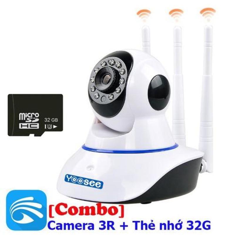 [TẶNG KÈM THẺ NHỚ 32 G-Hàng Real- BH 12 tháng]Camera YOOSEE WIFI IP XOAY 360 ĐỘ 3 RÂU Full HD 1080