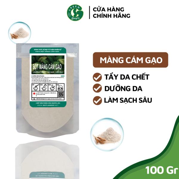 Bột cám gạo sữa nguyên chất Organic 100Gr- mỹ phẩm Handmade - B1.005