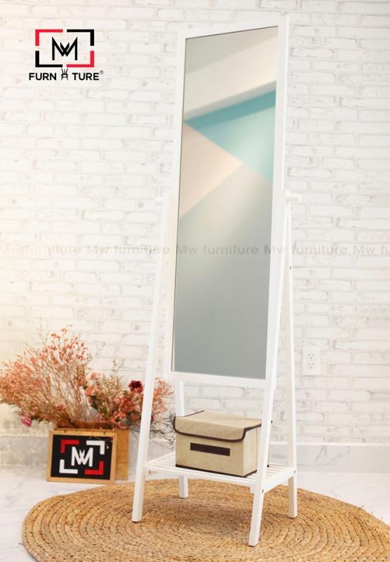 GƯƠNG LIỀN KỆ - GƯƠNG SOI TOÀN THÂN KHUNG GỖ CAO CẤP - A MIRROR SHELF 40 - 거울