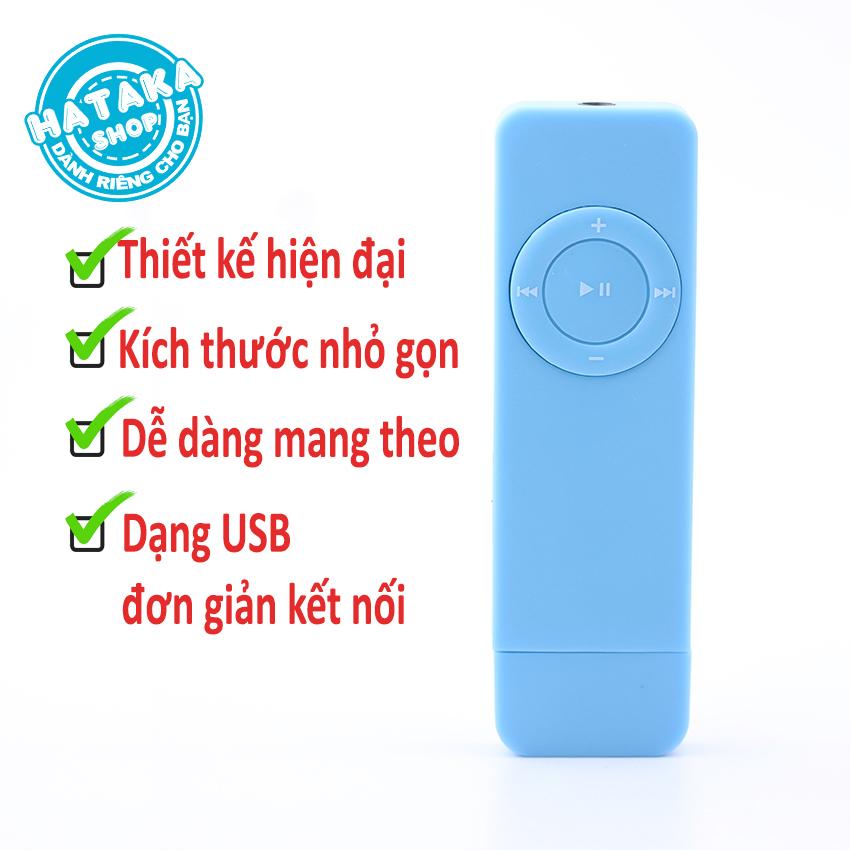 [Nhập ELAPR21 giảm 10% tối đa 200k đơn từ 99k]Máy nghe nhạc mp3 USB di động bỏ túi tặng tai nghe và dây đeo