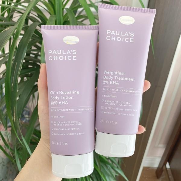 Kem Dưỡng Toàn Thân Đều Màu Da Chứa 10% Aha PaulaS Choice Skin Revealing Body Lotion cao cấp