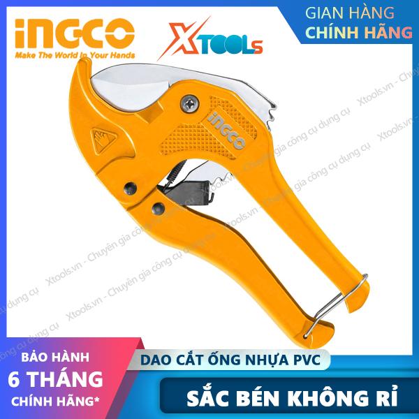 Dao cắt ống nhựa PVC chuyên dụng cao cấp INGCO thép không gỉ sắc bén tự động đóng mở cắt ống nước nhựa sửa chữa cơ khí [XSAFE] [XTOOLs]