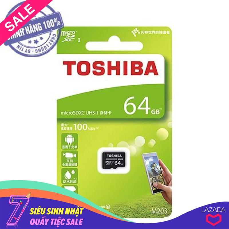 Thẻ nhớ micro SD toshiba 64GB M203 SDXC UHS-I 100Mb/s (hộp xanh)