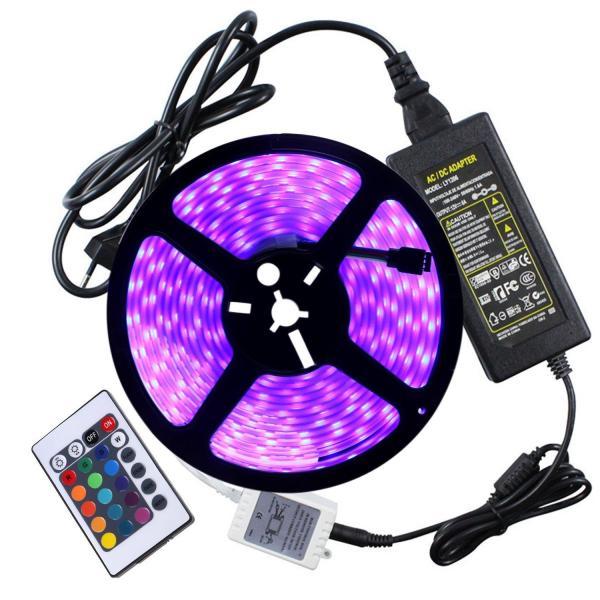 Đèn led dây 5050 cuộn 5m 12V RGB + Nguồn + Khiển