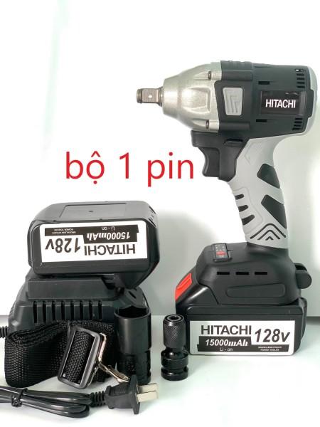siết bulong hitachi 128v bộ 1 pin