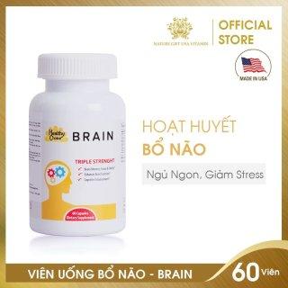 Viên Uống Bổ Não, Hoạt Huyết Dưỡng Não, Cải Thiện Triệu Chứng Mất Ngủ - HEATHY CHOICE BRAIN Nature Gift USA (60 viên) thumbnail
