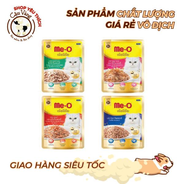 Pate Cho Mèo Me-O Delite Gói 70g, Thức ăn dinh dưỡng cho mèo mọi lứa tuổi