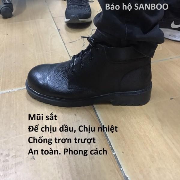 HOT Giày bảo hộ lao động Cao cổ – Da thật - Đế chịu dầu - Chống va đập - Siêu bền bỉ - Đế đen Hàng có sẵn - Sỉ lẻ toàn