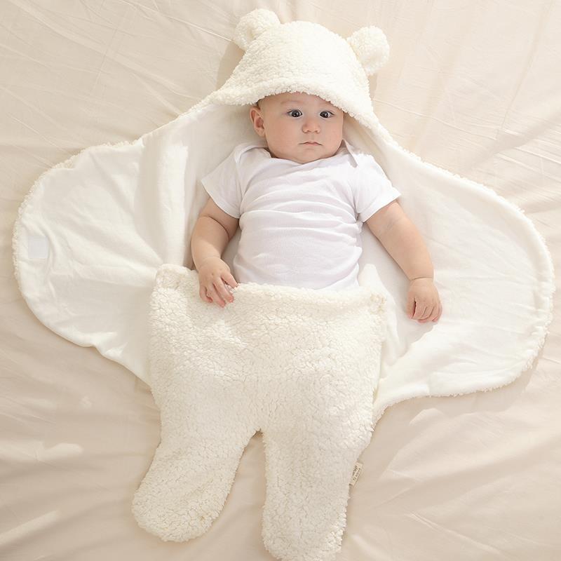 Chăn Quần Lông Cừu ủ Kén Baby Blanket Hình Thú Cao Cấp Cho Bé Yêu Có Thể Dùng Kèm Với Nôi Em Bé, Khăn ủ Kén Nâng Niu Bảo Vệ Sức Khỏe Con Yêu MA Có Giá Cực Kỳ Tiết Kiệm