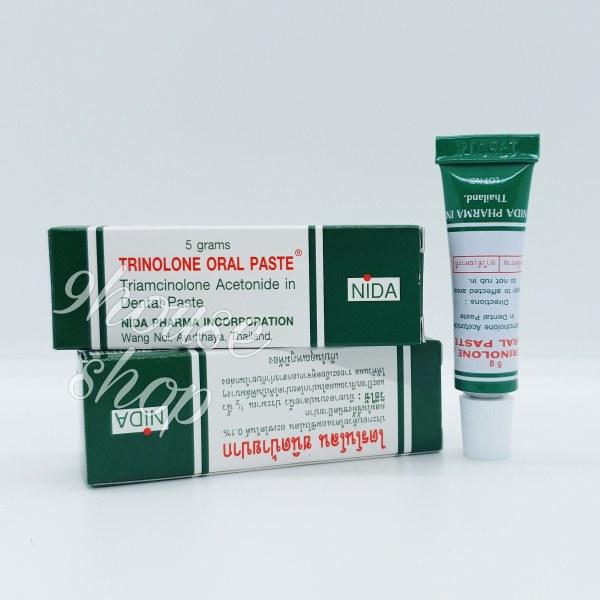 01 Tuýp Nhiệt Miệng Trinolone Oral Paste Thái Lan 5 gram