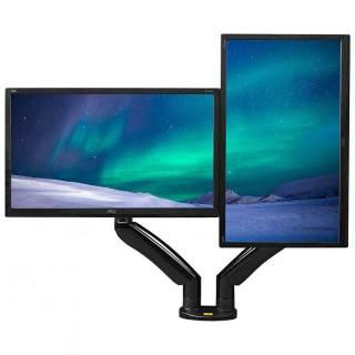 Giá treo hai màn hình máy tính NB - F195A (22-32 inch) tích hợp 2 cổng USB 3.0 Hàng Nhập Khẩu thumbnail