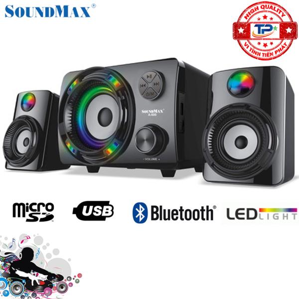 Bảng giá Loa Vi Tính SoundMax A-600 2.1 / A600 hỗ trợ Bluetooth, đọc thẻ nhớ , USB đèn LED Phong Vũ
