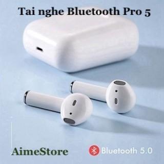[HCM][Phiên Bản Nâng Cấp] Tai Nghe Bluetooth Pro 5 - Kiểu Dáng Thời Thượng Cải Tiến Âm Thanh Thời Lượng Pin Kết Nối Mọi Thiết Bị - Giá tốt tại AimeStore thumbnail