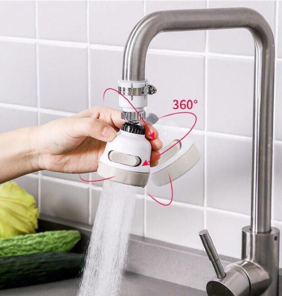 Vòi rửa chén tăng áp đầu xoay có kèm lọc nước