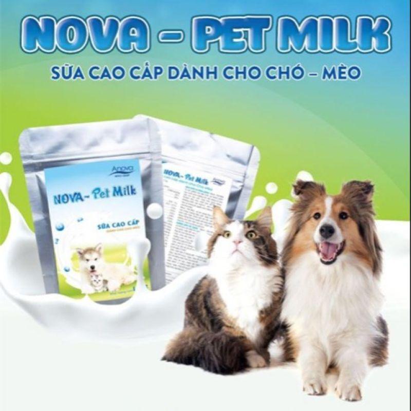 Sữa cho thú cưng, chó mèo Nova Pet Milk gói 100g