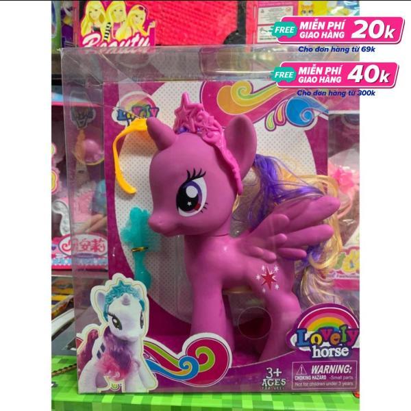 Chọn 1 trong 3 màu - Bộ đồ chơi ngựa Pony đáng yêu cao 22cm kèm phụ kiện thời trang -lovely Horse