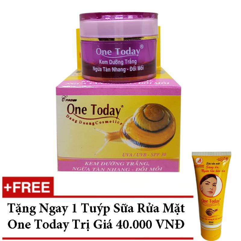 KEM DƯỠNG TRẮNG NGỪA TÀN NHANG ĐỒI MỒI ONE TODAY 8G - 9G + TẶNG SỮA RỬA MẶT ONE TODAY giá rẻ