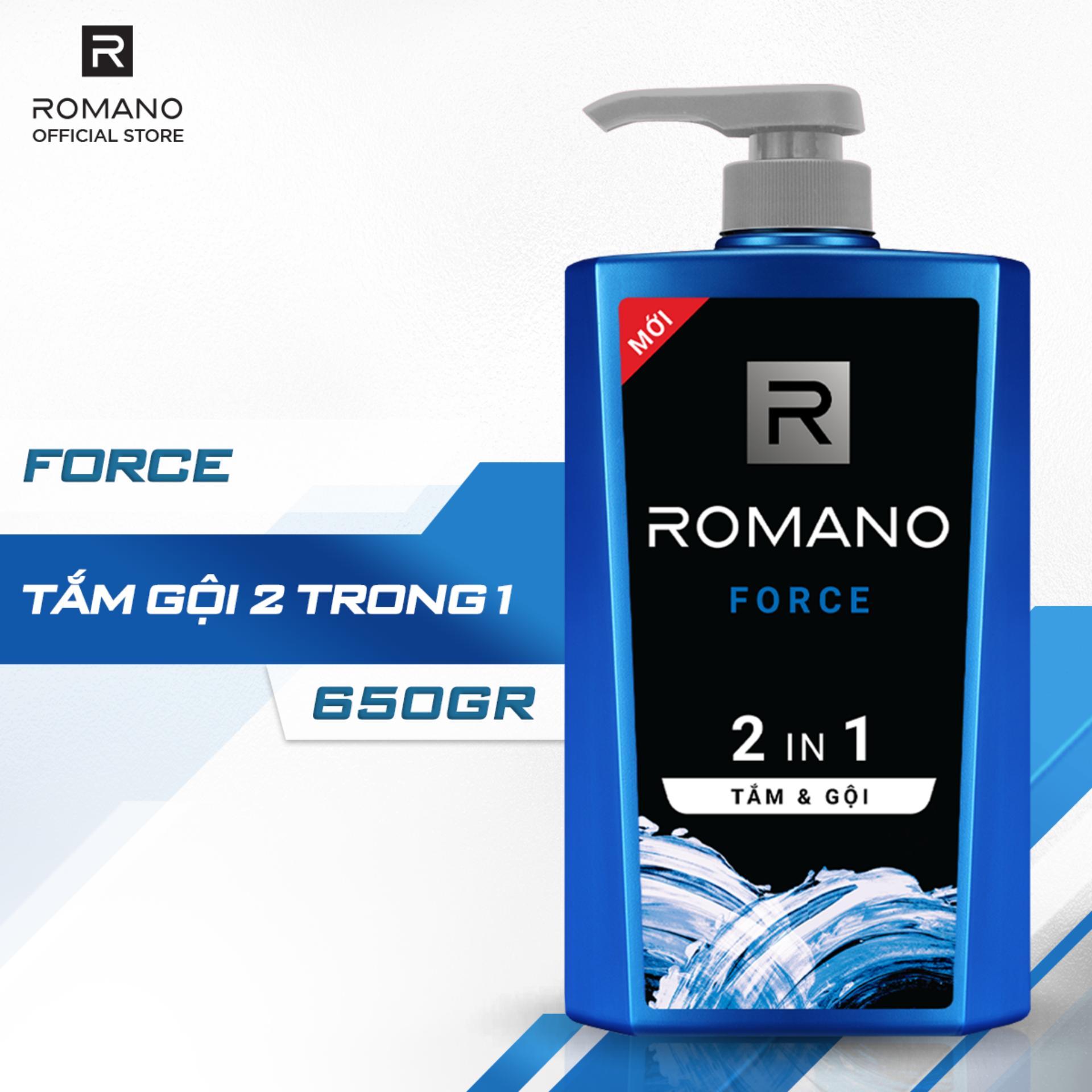 Tắm Gội 2 Trong 1 Romano Force 650g Cùng Giá Khuyến Mãi Hot