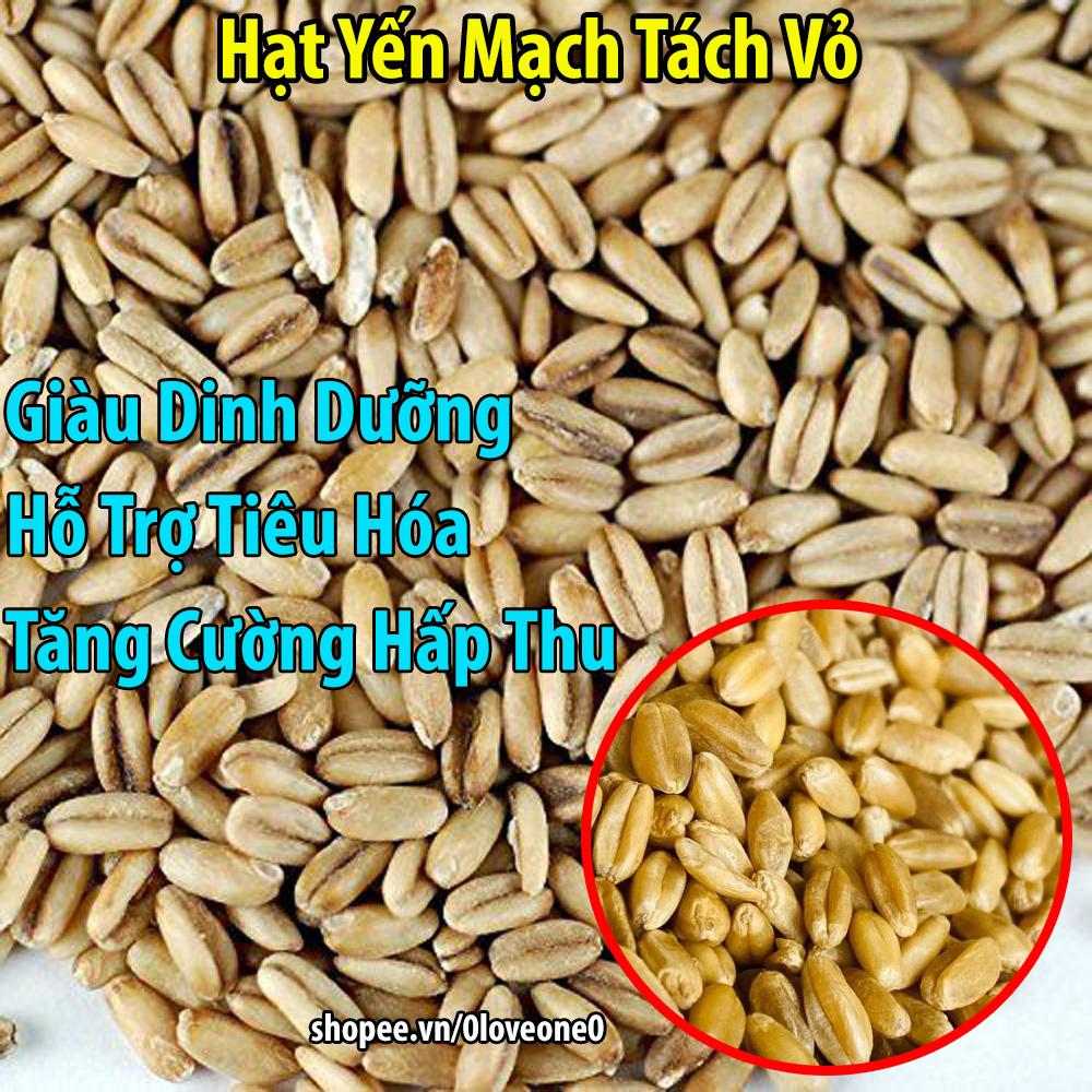500g Yến Mạch Nguyên Hạt Tách vỏ giàu dinh dưỡng cho Vẹt-Gà-Chim