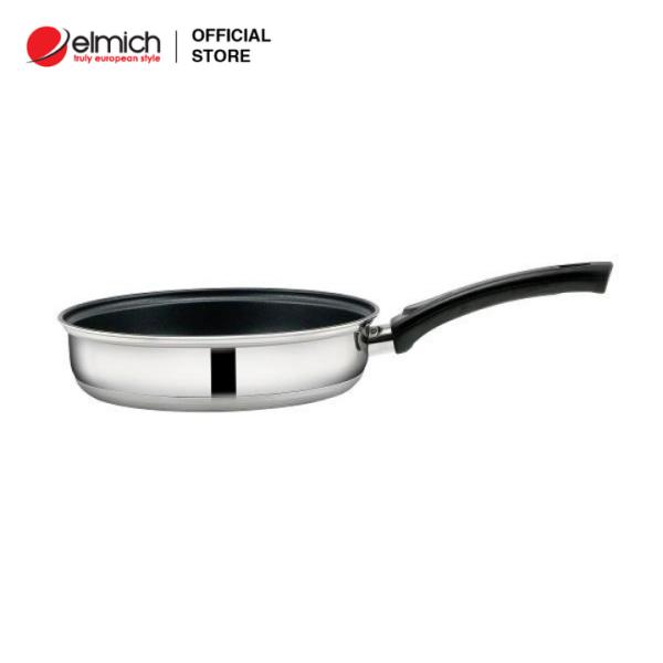 Chảo Inox chống dính  Elmich 3 đáy MaxB EL-376X size 16,20,24 cm (sử dụng trên mọi loại bếp)