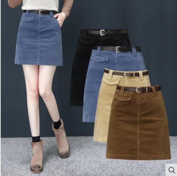[COMBO]Chân Váy Nhung Xuất Hàn[Tặng Kèm Dây Đai Da Cao Câp] Loại 1 Full Size 4564 KG