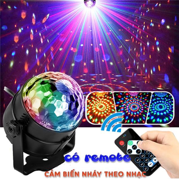 Bảng giá (LOẠI CÓ REMOTE , BẢO HÀNH 6 THÁNG) Đèn Led Xoay 7 Màu cảm ứng theo nhạc , Đèn nháy tết , đèn trang trí karaoke , đèn trang trí tiệc , đèn nháy 7 màu , dàn nháy