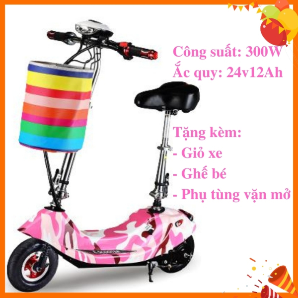 Phân phối Xe điện Scooter 8inch, xe điện trẻ em, xe đạp điện hàng chuẩn, tặng kèm đủ phụ kiện, bảo hành 12 tháng