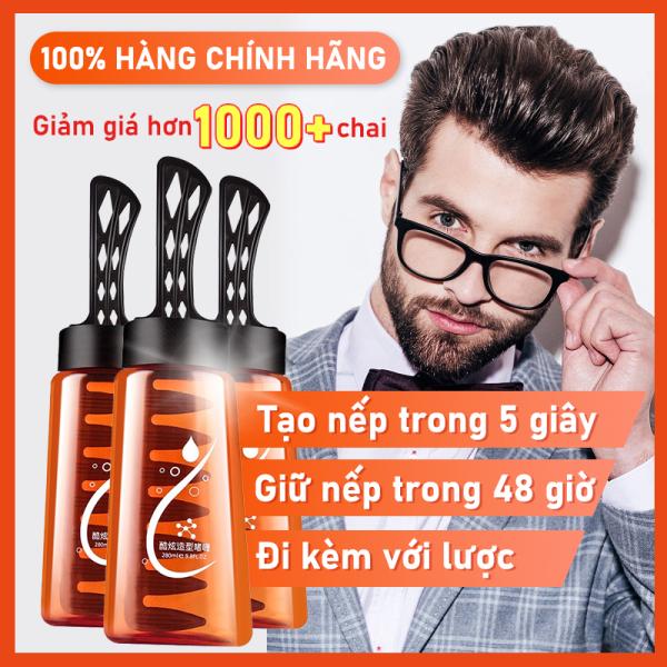 Keo tóc keo vuốt tóc nam cao cấp chai 280ml kèm lược tiện dụng thân thiện với mọi loại tóc giá rẻ