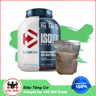 Gói Dùng Thử Sữa Bột Whey Hỗ Trợ Tăng Cân Tăng Cơ Dymatize Iso 100 500gram thumbnail