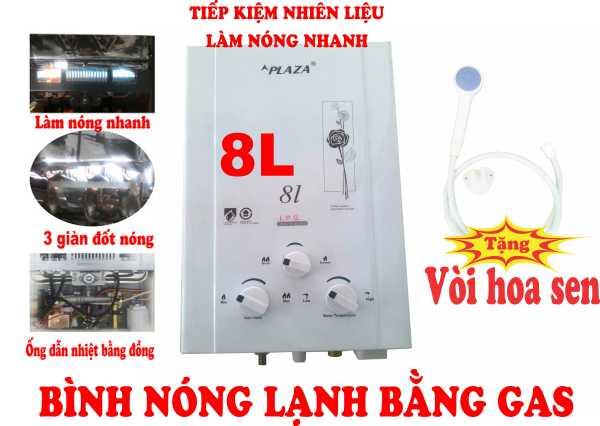 Bảng giá Tặng vòi hoa sen - 8 Lít - Bình nóng lạnh chạy bằng gas Điện máy Pico