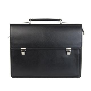 Túi xách cặp da đựng laptop hồ sơ công sở T26 40x30x7.5cm (Da bò - Đen) thumbnail