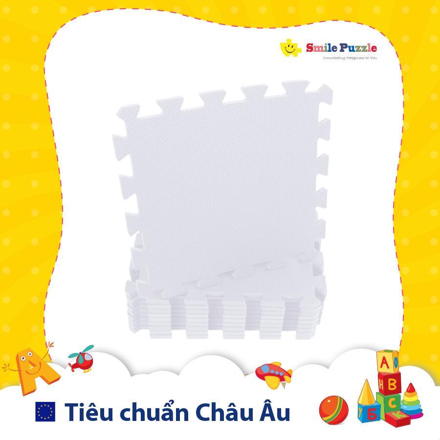 Deal Ưu Đãi Thảm Xốp Cho Bé - đơn Màu Pastel (10 Miếng, Kích Thước 0.6mx1.5m) Smile Puzzle - KHÔNG MÙI CHUẨN CHÂU ÂU