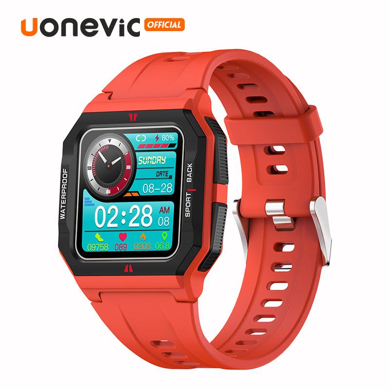 Đồng Hồ Thông Minh Uonevic FT10 Người Đàn Ông Đầy Đủ Cảm Ứng IP67 Thể Dục Không Thấm Nước Tracker , Neo Smartwatch Dành Cho Điện Thoại Xiaomi IOS