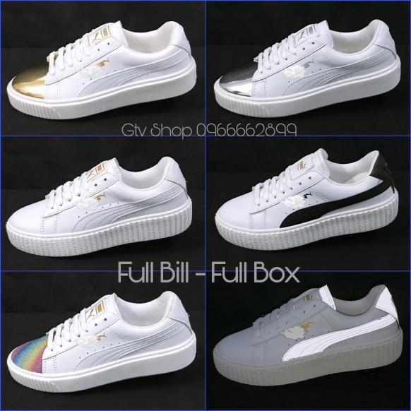 Tặng hộp, bill và Dây lụa - Giày thể thao nam nữ Puma loại đế vân răng cưa, size 36-39. giá rẻ