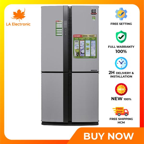 Trả Góp 0% - Tủ Lạnh - Sharp Inverter 626 liter refrigerator SJ-FX631V-SL Full VAT - Miễn phí vận chuyển HCM