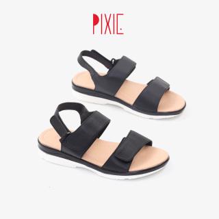 Giày Sandal Đế Xuồng 3cm Da Thật X727 thumbnail